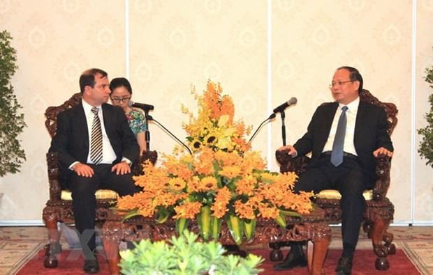 Le president de l'institut cubain d'amitie avec les peuples en visite a HCM-Ville hinh anh 1