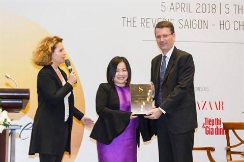 Trang Le devient ambassadrice honoraire de l'exposition EuroSphere Vietnam 2018 hinh anh 1
