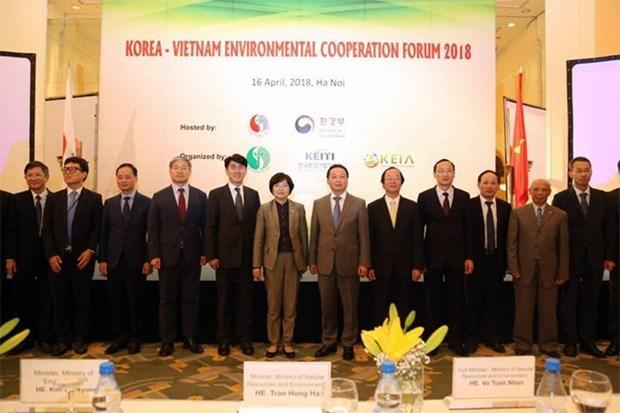 Le Vietnam et la R. de Coree intensifient leur cooperation environnementale hinh anh 1
