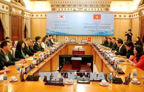 Renforcement de la cooperation entre HCM-Ville et la province sud-coreenne de Gyeongi hinh anh 1