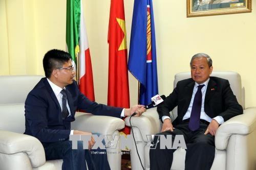 Vers une cooperation accrue entre le Vietnam et l'Italie hinh anh 1