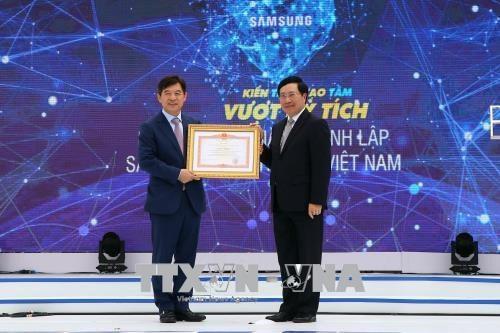 Le vice-PM Pham Binh Minh au 10e anniversaire de Samsung Electronics Vietnam hinh anh 1