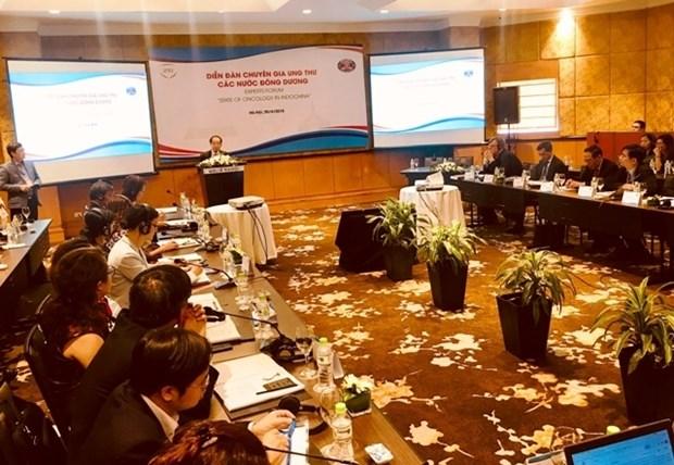 Les trois pays indochinois discutent des mesures de prevention et de lutte contre le cancer hinh anh 1
