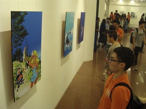 Exposition du dessinateur belge de bandes dessinees Dany a Hanoi hinh anh 1