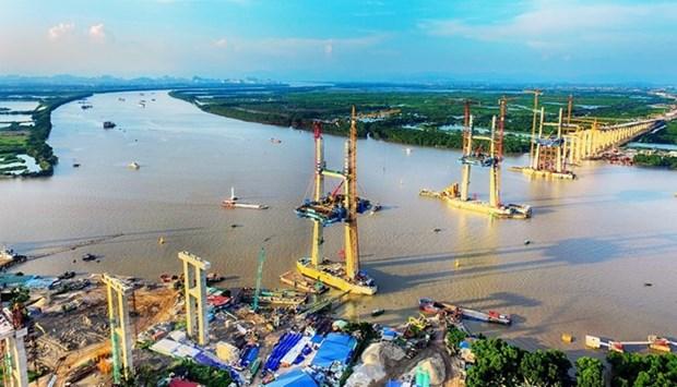 Raccordement du pont de Bach Dang reliant Quang Ninh a Hai Phong hinh anh 1