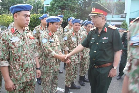Maintien de la paix : l'hopital de campagne du Vietnam pour la MINUSS est pret hinh anh 1