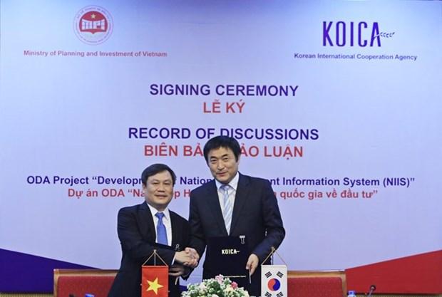 Aide sud-coreenne pour le developpement du systeme d'information national sur les investissements hinh anh 1