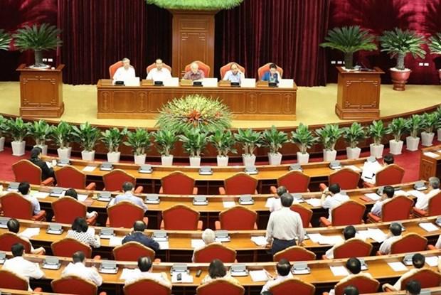 Le 7e Plenum du CC du PCV: rapport sur la direction du Bureau Politique et du Secretariat hinh anh 1