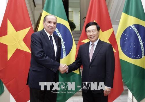 Le ministre bresilien des AE en visite officielle au Vietnam hinh anh 1