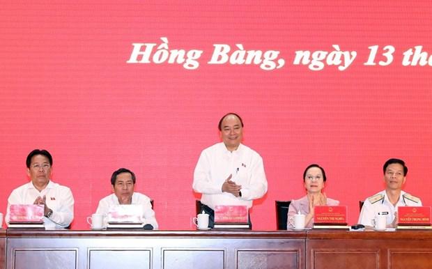 A Hai Phong, le PM souligne l'importance du 7e plenum du CC du Parti hinh anh 1