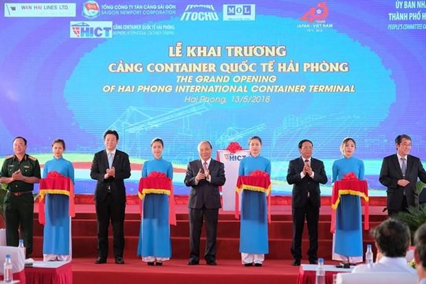 Inauguration du port international de conteneurs de Hai Phong hinh anh 1