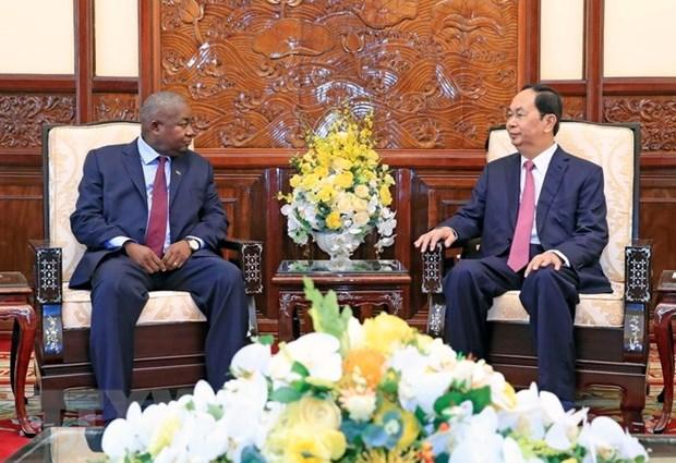 Le president Tran Dai Quang recoit de nouveaux ambassadeurs hinh anh 2
