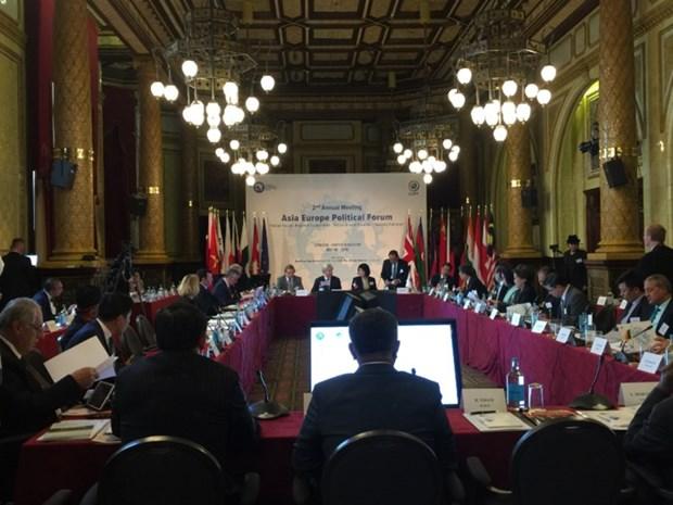 Une delegation du PCV participe a la deuxieme reunion du Forum politique Asie-Europe hinh anh 1