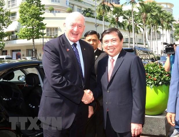 Le gouverneur general d'Australie se rend a Ho Chi Minh-Ville hinh anh 1