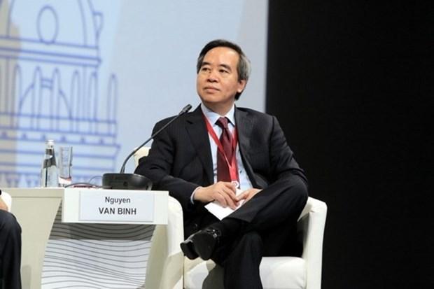 Le president de la Commission centrale de l'Economie du PCV prononce un discours au SPIEF-2018 hinh anh 1