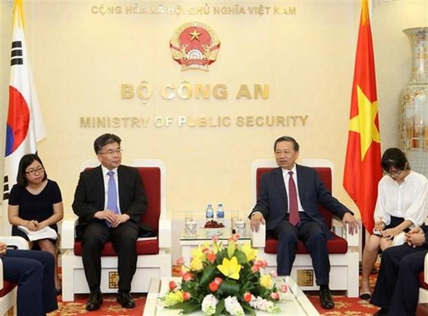 Vietnam et R. de Coree renforcent la cooperation dans la lutte contre la criminalite hinh anh 1