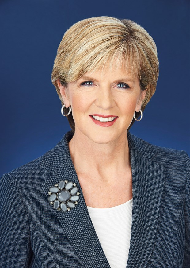 Julie Bishop : l'Australie et le Vietnam ont des interets regionaux convergents hinh anh 1