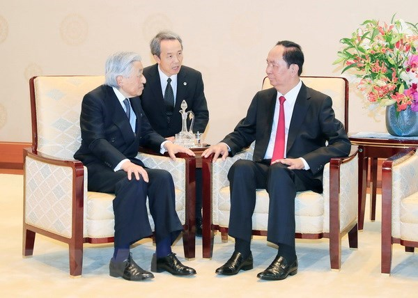 Entrevue entre le president Tran Dai Quang et l'empereur Akihito hinh anh 2