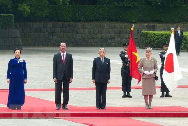 Entrevue entre le president Tran Dai Quang et l'empereur Akihito hinh anh 1