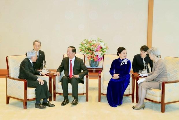 La ceremonie d'accueil du president Tran Dai Quang vue par les medias japonais hinh anh 2