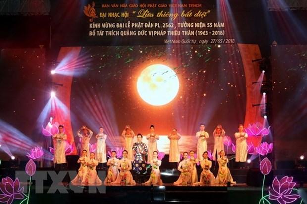 HCM-Ville: celebration de l'immolation du Bodhisattva Thich Quang Duc hinh anh 1