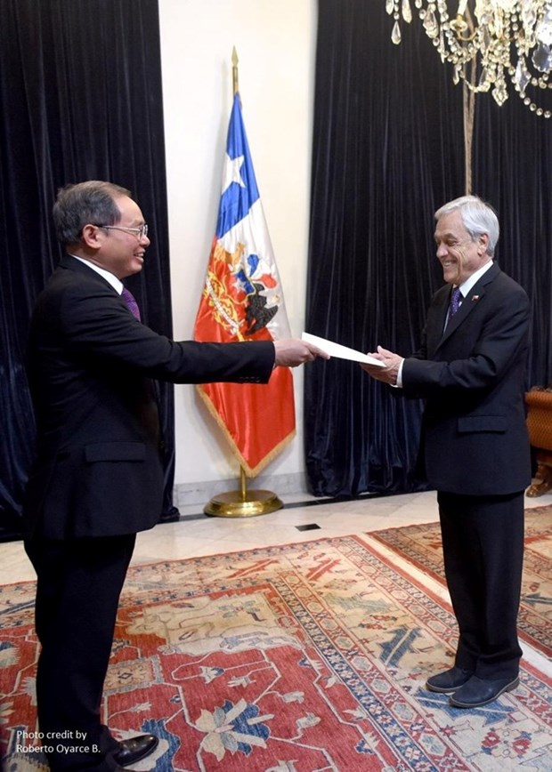 Le president chilien apprecie les realisations economiques du Vietnam hinh anh 1