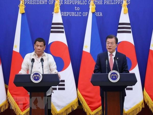 La R.de Coree et les Philippines s'accordent pour resserrer la cooperation bilaterale hinh anh 1