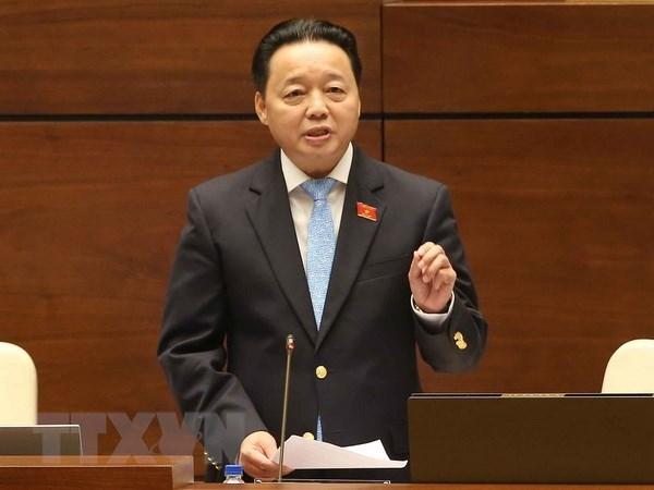 Des deputes satisfaits des reponses du ministre des Ressources naturelles et de l'Environnement hinh anh 1