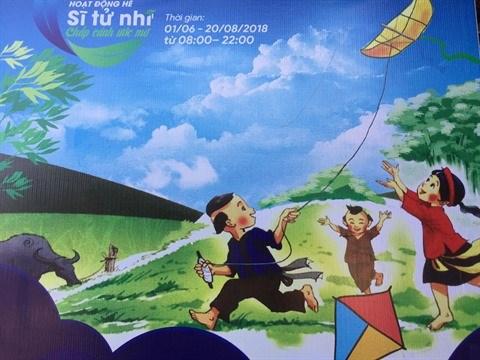 Des ateliers creatifs pour les enfants au Temple de la Litterature hinh anh 1