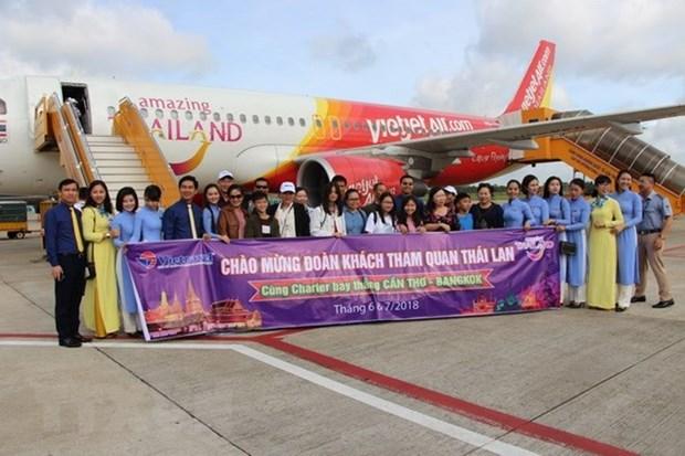 Lancement de la ligne aerienne directe Can Tho-Bangkok hinh anh 1