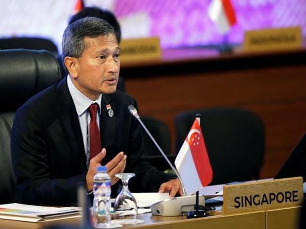Le ministre singapourien des AE en visite en RPDC avant le sommet Trump-Kim Jong-un hinh anh 1