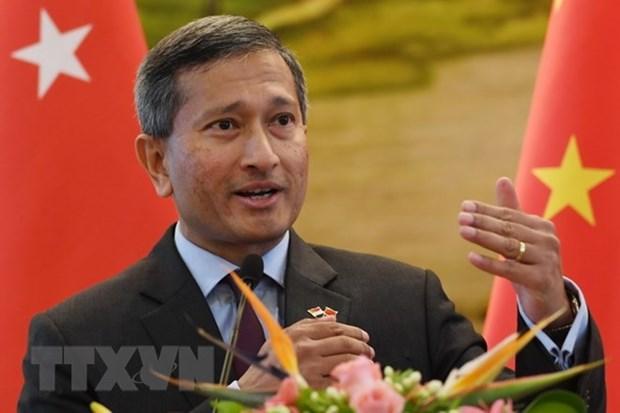 Entretien entre les ministres des AE de la RPDC et de Singapour hinh anh 1