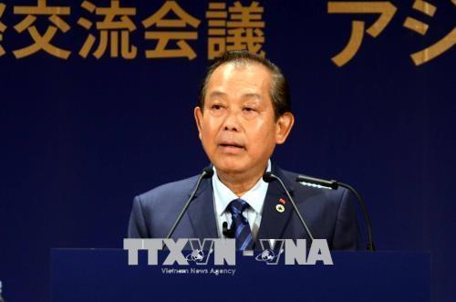 Le vice-PM Truong Hoa Binh rencontre des dirigeants japonais hinh anh 1
