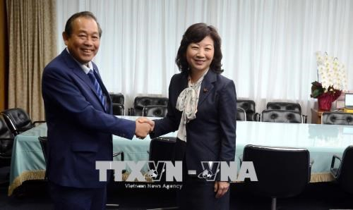 Le vice-PM Truong Hoa Binh rencontre des dirigeants japonais hinh anh 2