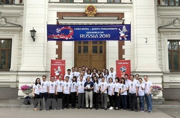 L'ambassade du Vietnam en Russie encourage la Coupe du monde de football 2018 hinh anh 1
