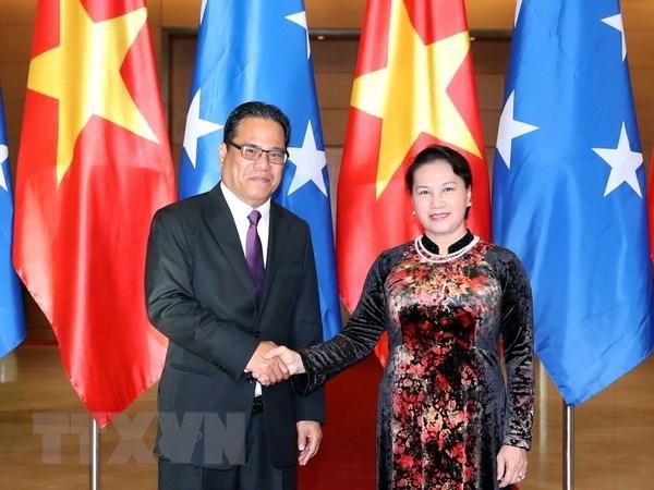 Le president du Congres des Etats federes de Micronesie termine sa visite officielle au Vietnam hinh anh 1