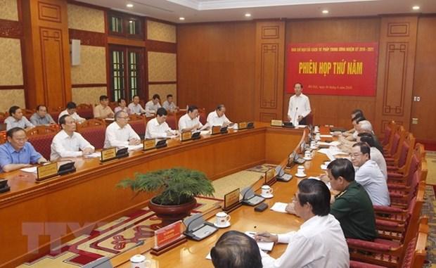 Le chef de l'Etat preside la 5e session du Comite central de pilotage de la reforme judiciaire hinh anh 1