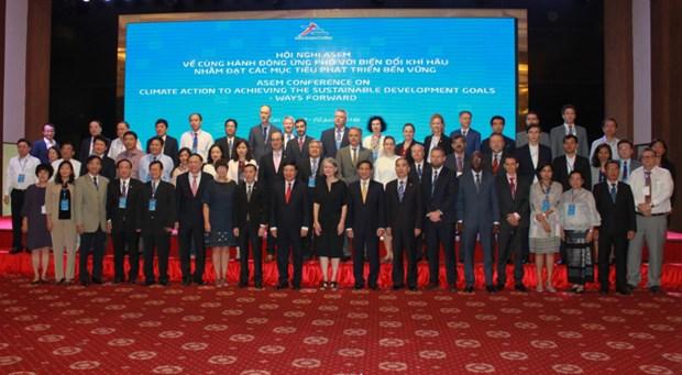 Les membres de l'ASEM partagent leur experience en matiere d'adaptation au changement climatique hinh anh 1