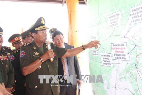 Le vice-PM cambodgien Tea Banh visite des sites historiques a Binh Phuoc hinh anh 1