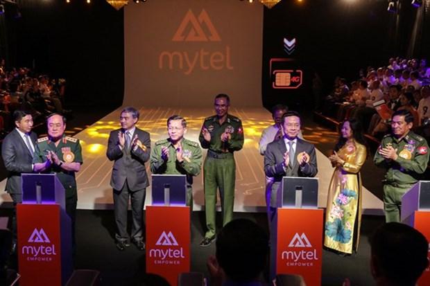 Le projet Mytel de Viettel est mis en service au Myanmar hinh anh 1