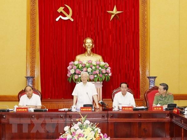 Conference de la Permanence du Comite central du Parti pour la Police hinh anh 1