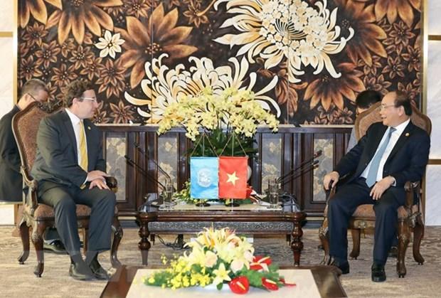Le PM Nguyen Xuan Phuc recoit les dirigeants du PNUD et de l'ONUDI hinh anh 1