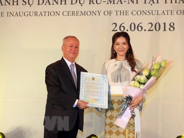 Ly Nha Ky est nommee consul honoraire de la Roumanie a HCM-Ville hinh anh 1