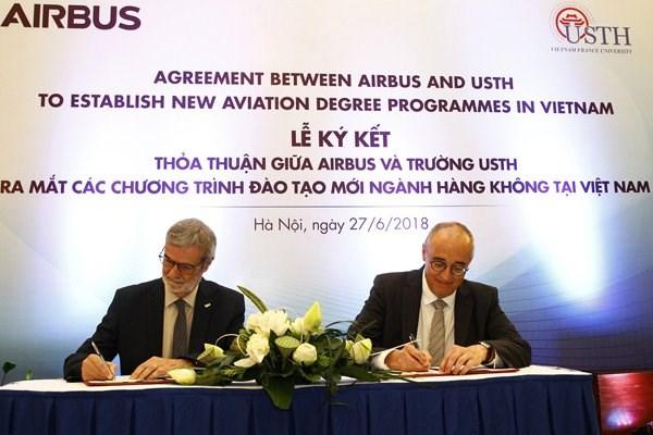 Formation aeronautique: aide de 2,5 millions de dollars d'Airbus pour le Vietnam hinh anh 1
