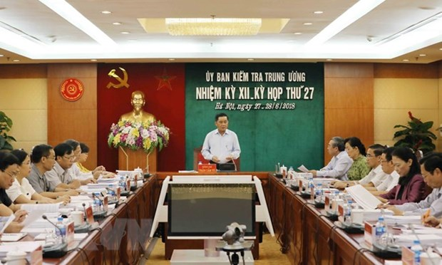 La 27e reunion de la Commission de controle du Comite central du Parti hinh anh 1