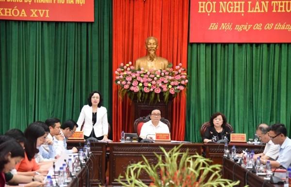 Ouverture de la 14e conference du Comite du Parti pour Hanoi (XVIe mandat) hinh anh 1
