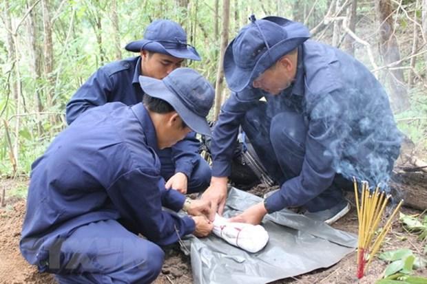 An Giang trouve des restes de 116 soldats tombes au champ d'honneur hinh anh 1