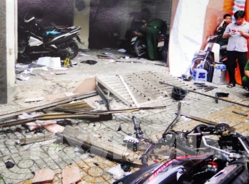 Sept personnes arretees pour une attaque contre un siege de la police hinh anh 1