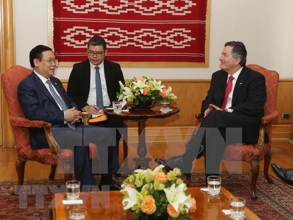 Le vice-Premier ministre Vuong Dinh Hue termine avec succes sa visite au Chili hinh anh 1