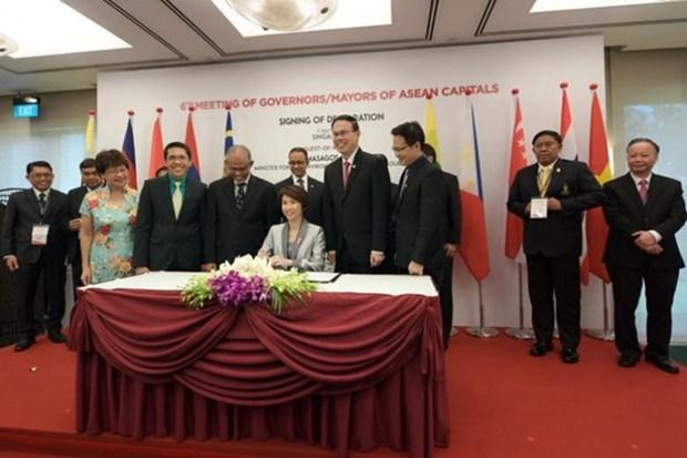 ASEAN : signature de la Declaration de Singapour sur l'environnement durable hinh anh 1